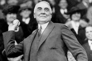When he wasn't swinging, Harding pitched.