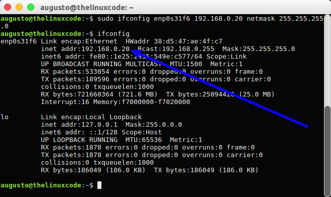How To Change IP Address with Terminal on Linux – TheLinuxCode
