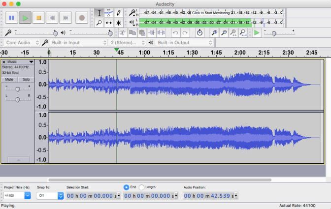 audacity open source audio editor