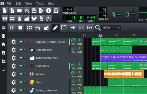 lmms open source audio editor