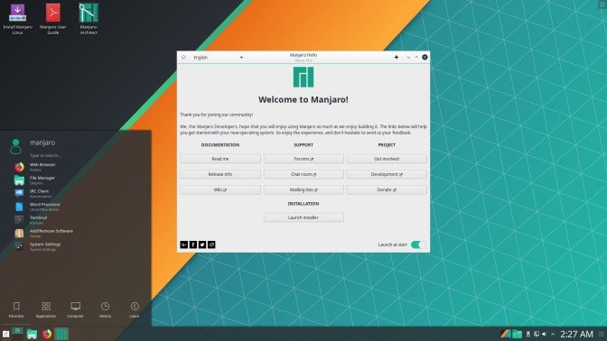 manjaro linux best os for old laptop