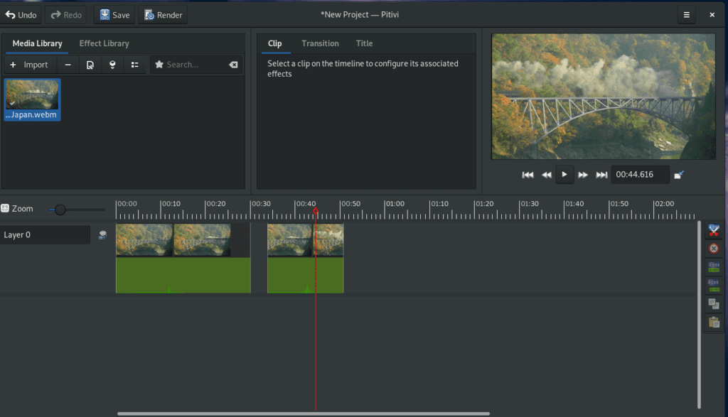 pitivi free open source video editing