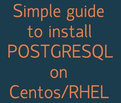 install postgresql