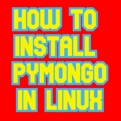 install pymongo