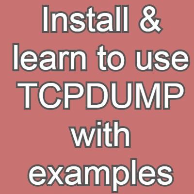 tcpdump examples