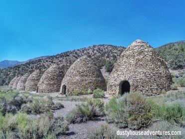 Charcoal Kilns in the Panamint Mountains across from Lookout City