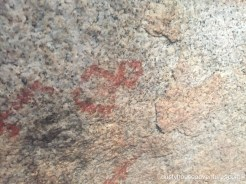 Simple geometric shapes in pictographs - Joshua Tree National Park - California