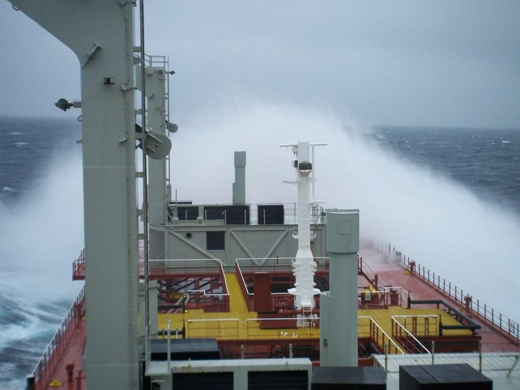 big wave bow ship