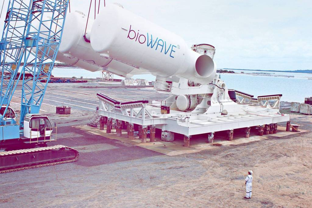 5: Oscillating body devices. (a) The Wave Roller from AW ... |Oscillating Wave Energy Converter
