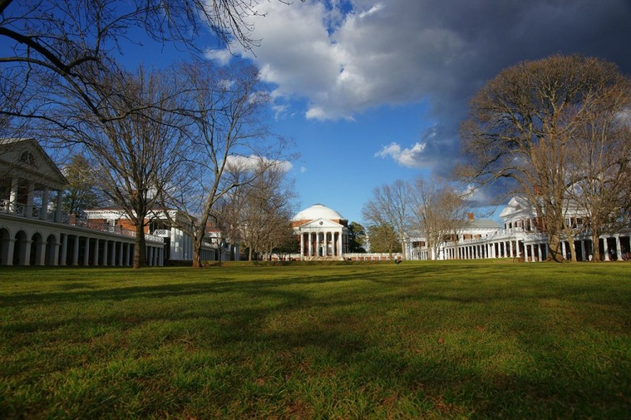 "Jefferson's ""Academical Village"" at the University of Virginia."