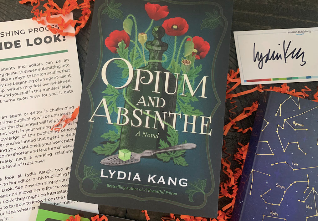 Opium and Absinthe Book on a Cluttered Table