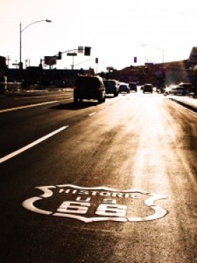 Route 66 at Sunset