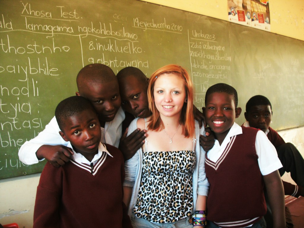 Volunteering in a township school in South Africa - I signed up for working in an orphanage but was able to experience working in a school and sport coaching too.