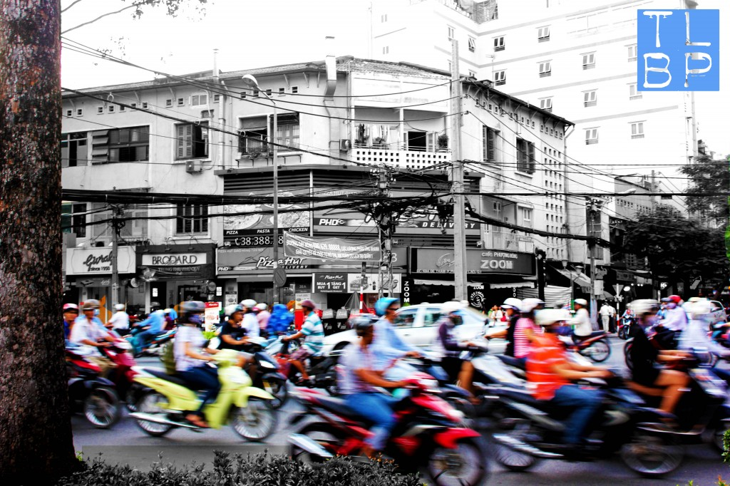 Crossing the road in Vietnam involves a whole new set of skills.