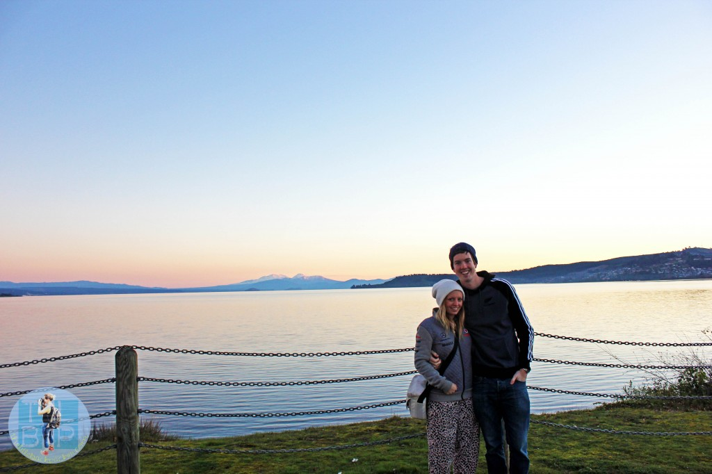 Hanging out by gorgeous Lake Taupo