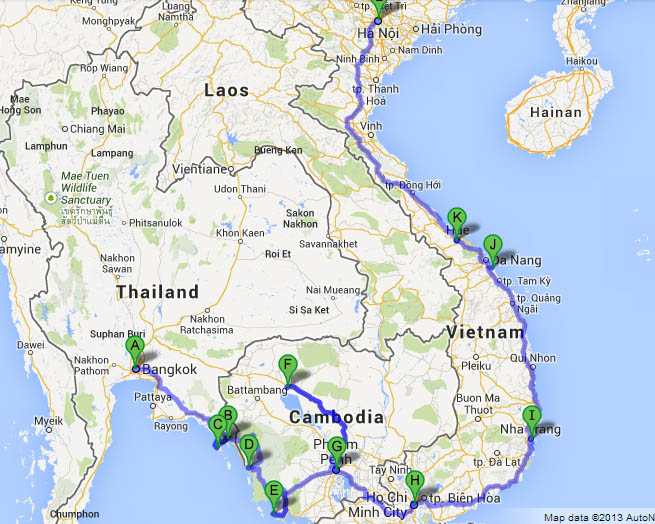 Everything you need to know about: Bangkok to Hanoi Overland