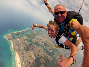 sky diving, gap year