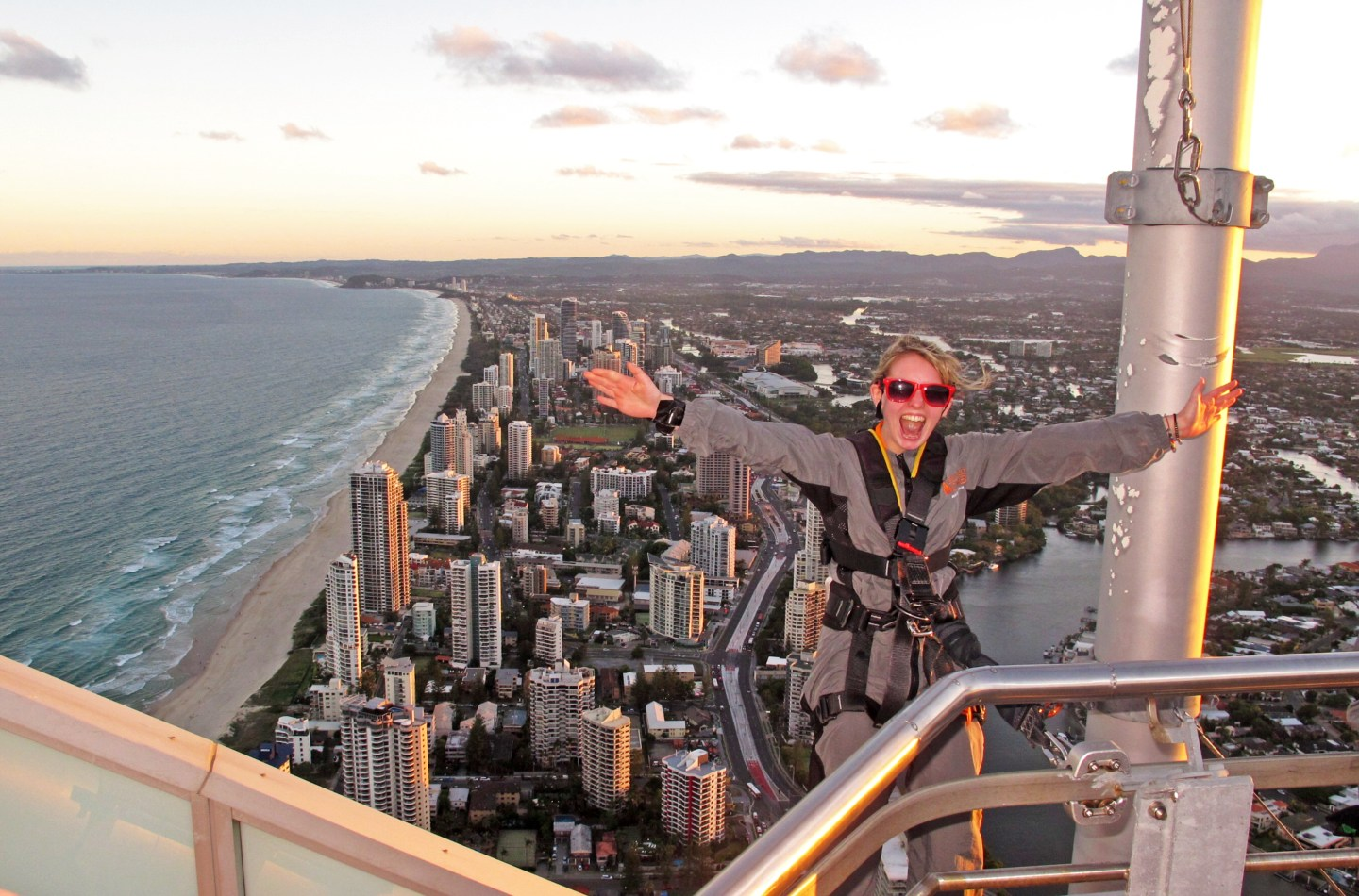 Climbing The Q1 Building In Surfers Paradise
