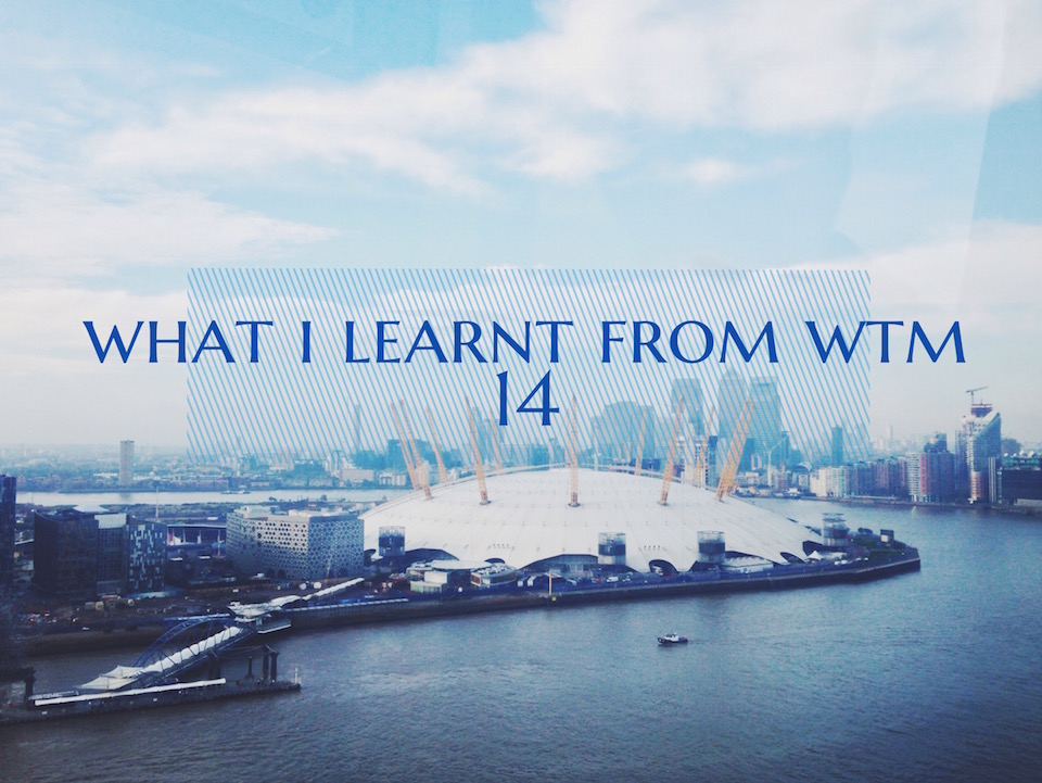 What I learnt from WTM14