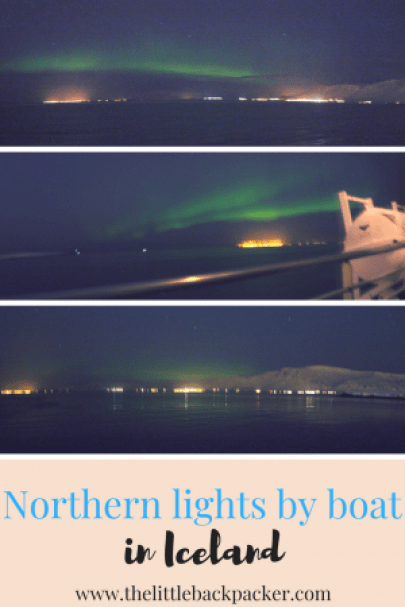 Northern lights by boats Iceland