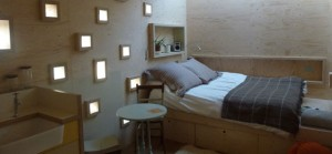 quirky accommodation with canopy and stars brockloch-treehouse_double-bed_cs_gallery_preview