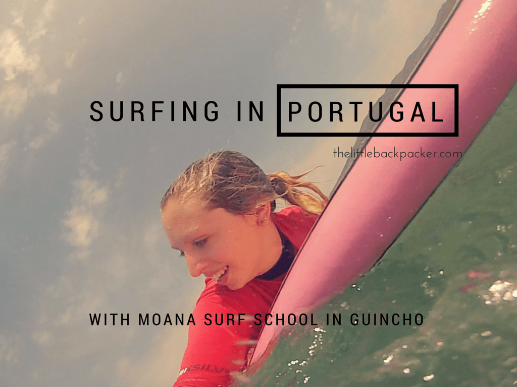 Surfing in Guincho with Moana Surf School