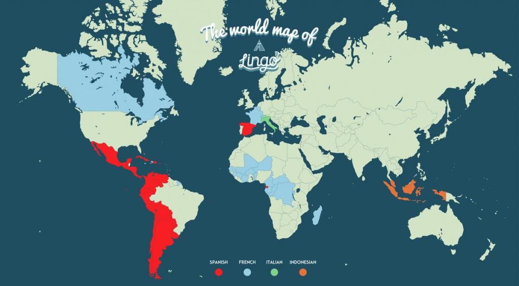 lingo travel language map