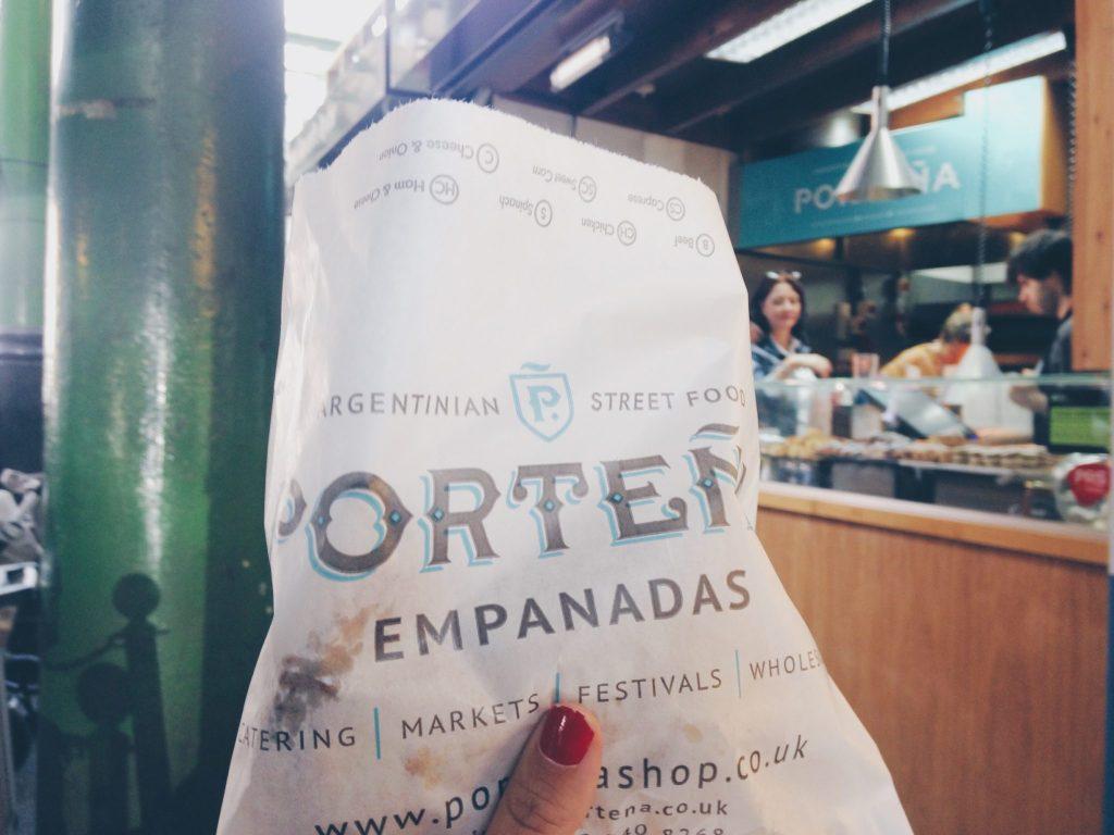 Sampling Empanadas at Borough Market