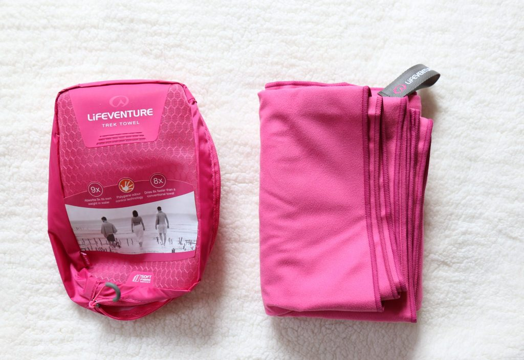 Trips for travelling with hang luggage only - Lifeventure soft fibre towel