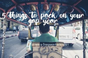 5 things to pack on your gap year