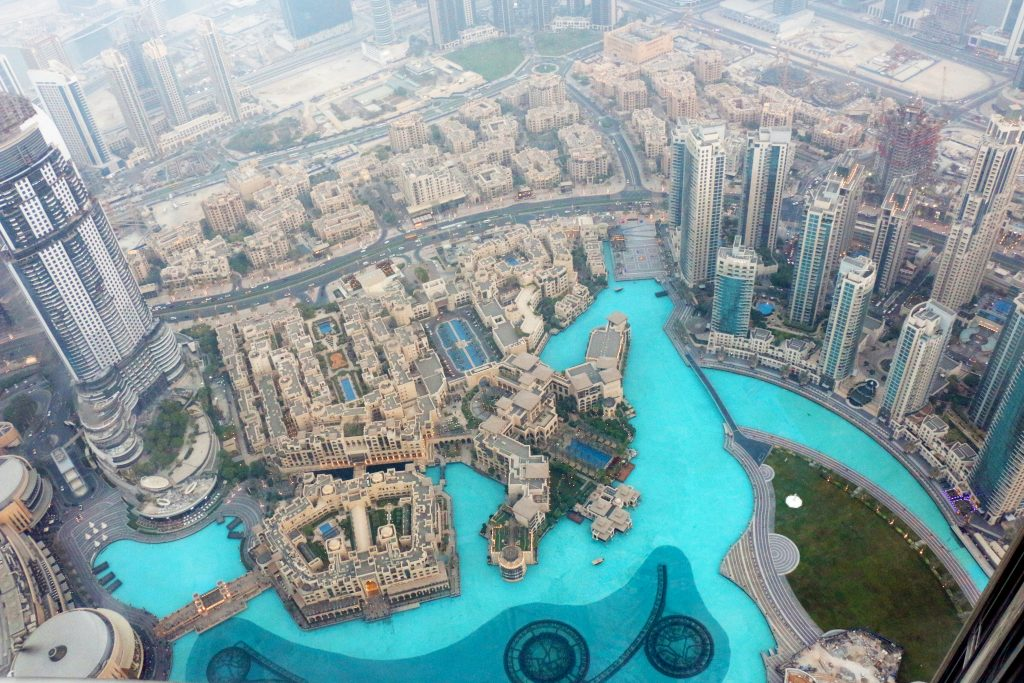 views from Burj Khalifa - things to do in Dubai