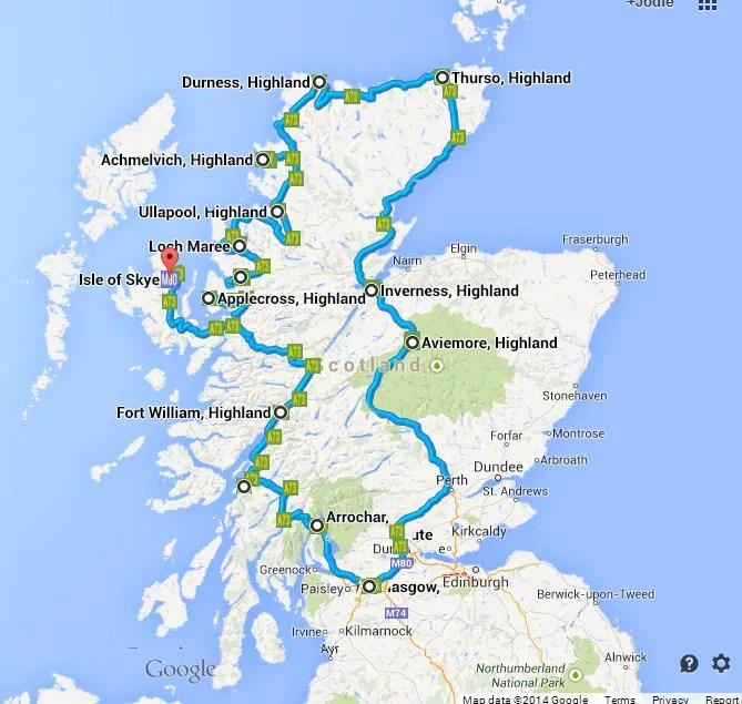 scotland Google Map Road Trip on google transformers, google war horse, google the internship, google shrek,