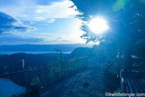 Sunset in Taal Volcano