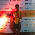 The Little Binger finishes a 5K run at Sun Life Resolution Run!