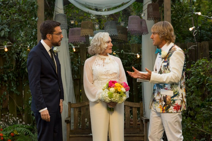 The family drama intensifies in Father Figures starring Glen Close, Ed Helms, and Owen Wilson. | Credit: Warner Bros. Pictures
