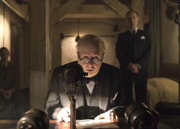 Gary Oldman inspires a nation in The Darkest Hour.   Photo: Focus Features