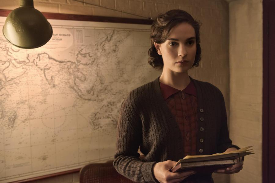 Lily James shines in The Darkest Hour. | Photo: Focus Features