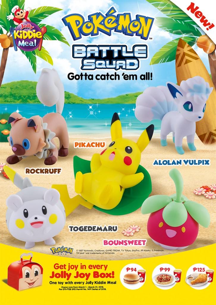 Complete your Pokemon Battle Squad with Every Jolly Kiddie Meal at Jollibee
