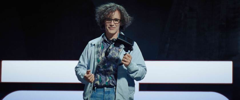 Mark Rylance is James Halliday, OASIS createor, in Ready Player One.