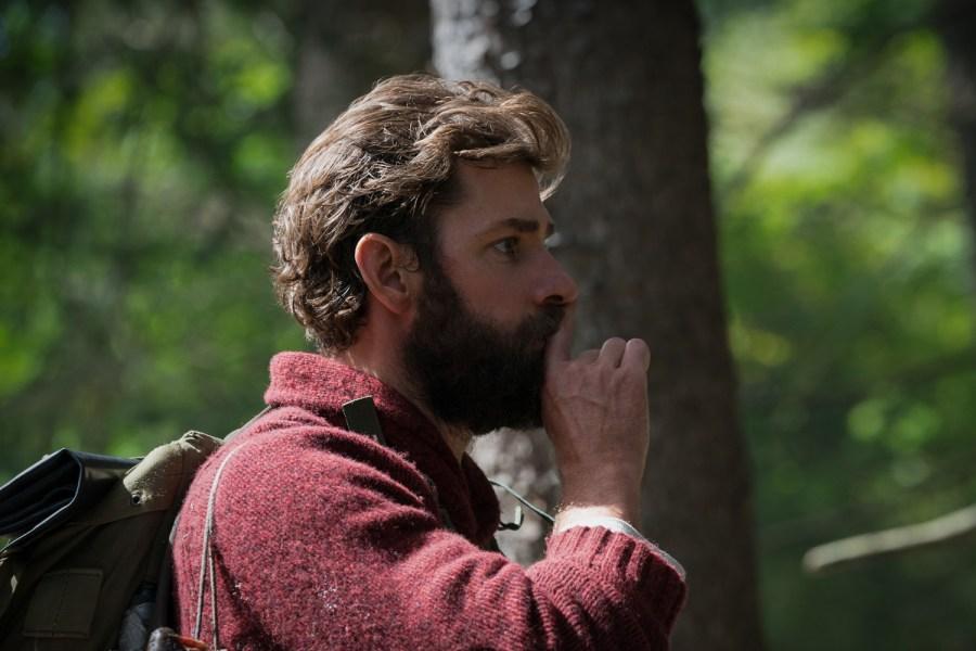 John Krasinski plays Lee Abbott in A QUIET PLACE.   Credit: United International Pictures