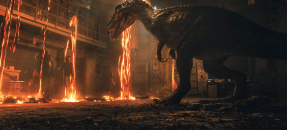 It's a fight for survival against dinosaur and nature in Jurassic World: Fallen Kingdom.