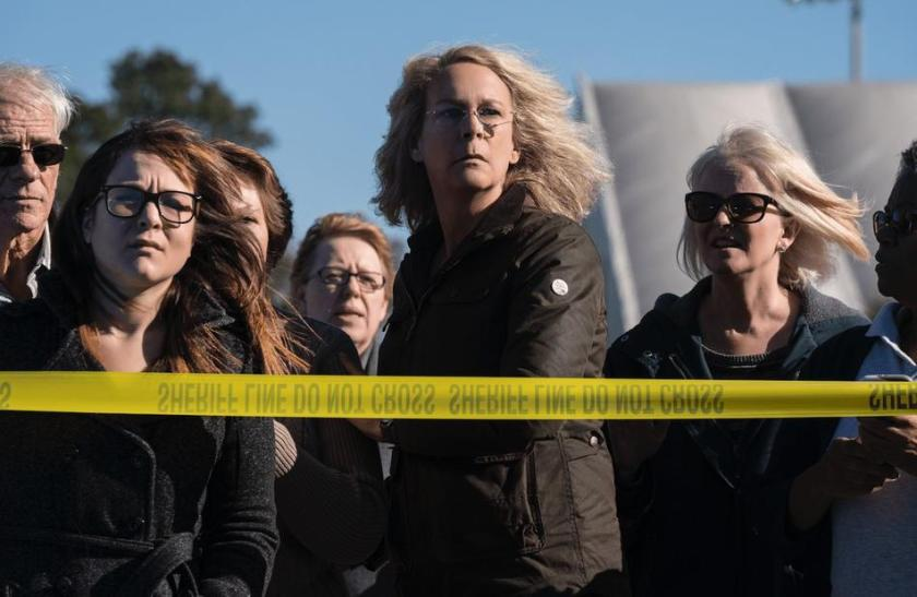 Jamie Lee Curtis returns for blood as Laurie Strode in Halloween. | Credit: United International Pictures