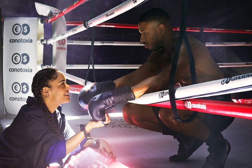 There is a family outside the ring for Creed in Creed II. | Credit: Warner Bros Pictures | The Little Binger