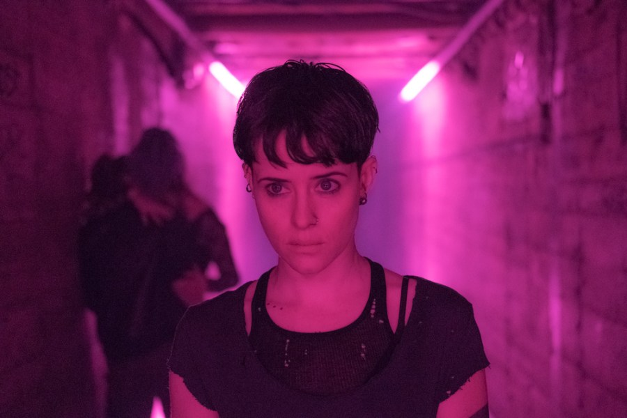 Lisbeth Salander (Claire Foy) in THE GIRL IN THE SPIDER'S WEB.   The Little Binger   Credit: Columbia Pictures