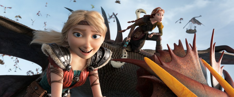 Astrid and Valka help Hiccup run Berk in How To Train Your Dragon: The Hidden World. | The Little Binger | Credit: United International Pictures
