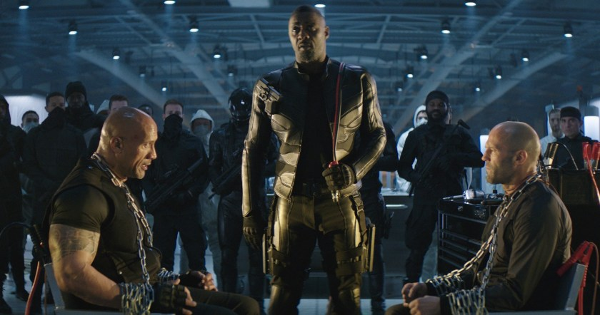 Jason Statham, Idris Elba, and Dwayne Johnson rock in Fast & Furios: Hobbs and Shaw | The Little Binger | Credit: United International Pictures