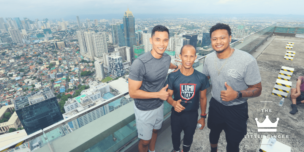 Michael Montes, Director of Recreation and Kerry Sports; Filipino record holder Andrico Mahilum; and basketball player Bobby Ray Parks Jr. | The Little Binger