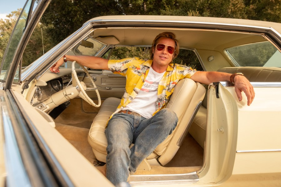 Brad Pitt is a stunt double in Once Upon a Time In Hollywood.   The Little Binger   Credit: Columbia Pictures