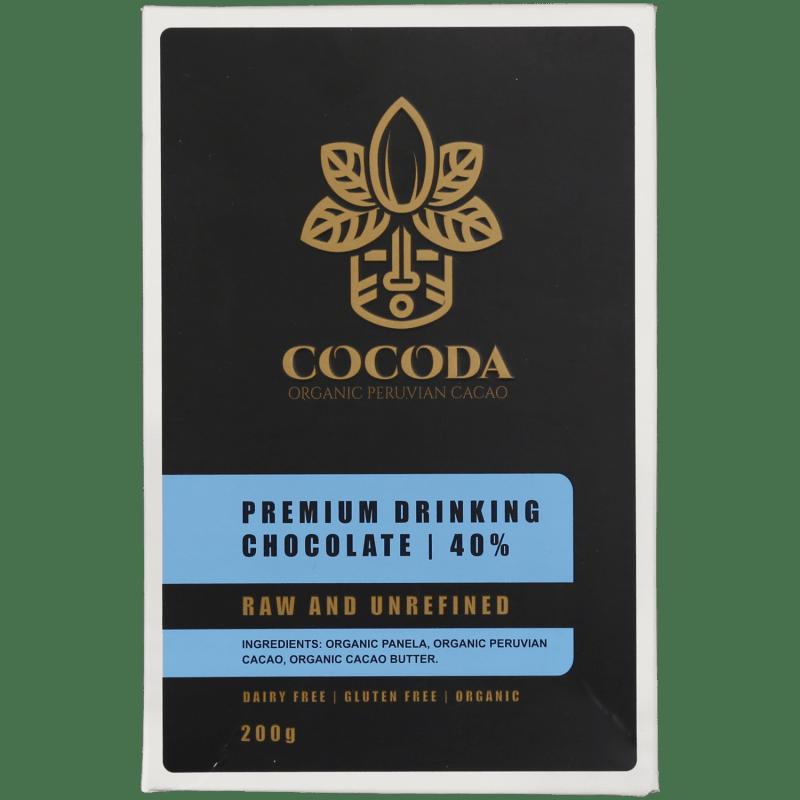 cocoda premium drinking chocolate 40 percent