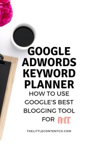 Google Keyword Planner Tutorial: The Easy Way in 2019 - The Little